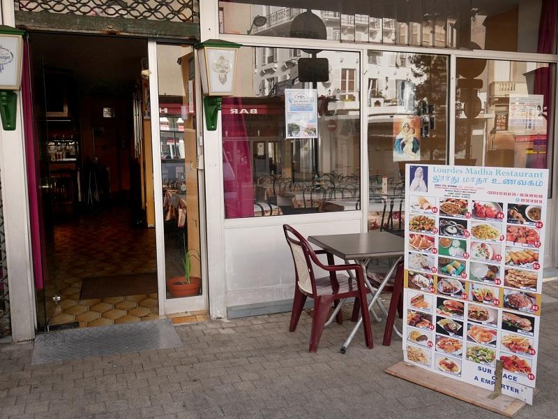 Lourdes Madha restaurant - devanture 1